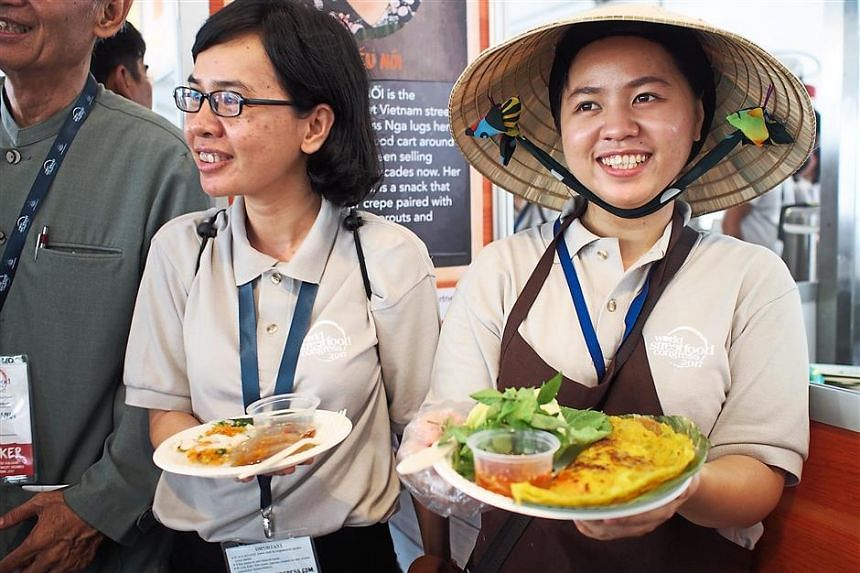 The World Street Food Congress in Manila brought in hawkers such as these ones from Vietnam. PHOTO: THE STAR