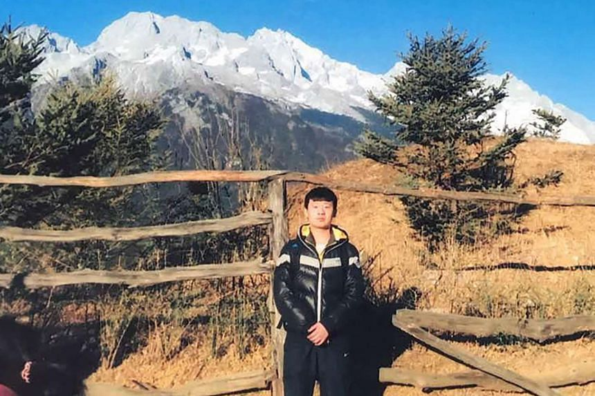 An undated handout picture of Yu Huan. A Chinese court has decided to cut his life sentence to five years following a retrial.