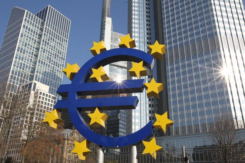 German artist Ottmar Hoerl's sculpture depicting the euro logo in Frankfurt. The German city is emerging as the biggest winner from the Brexit vote, with many of the world's biggest banks choosing to base their new European Union headquarters there.