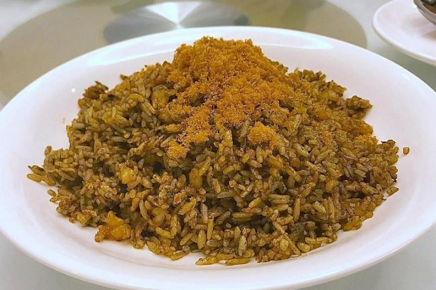 'Hak Gam' Olive Fried Rice with Minced Pork