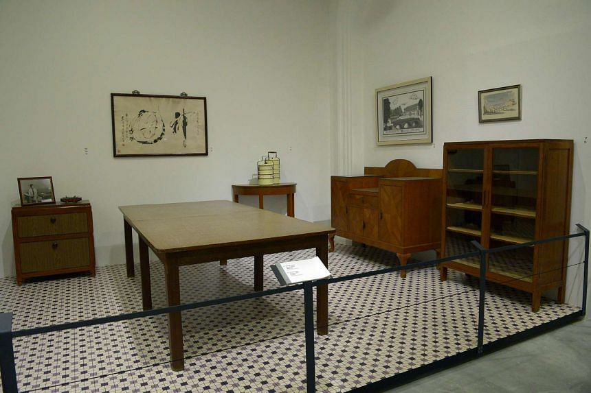 Furniture and personal items from Mr Lee Kuan Yew's Oxley Road home, displayed at an exhibition at the National Museum in 2015.
