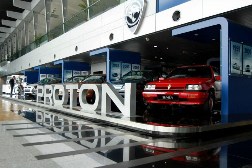 The Proton showroom in Shah Alam. DRB-Hicom and Zhejiang Geely have signed a definitive agreement on the latter's acquisition of 49.99 per cent of Malaysian carmaker Proton and 51 per cent of luxury sports car brand Lotus.