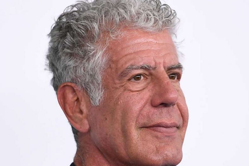 Travel host Anthony Bourdain, who was in Manila recently to speak at the World Street Food Congress. PHOTO: AFP