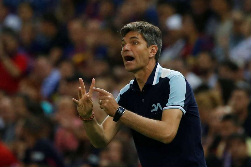 Argentinian coach Mauricio Pellegrino (above) will replace Claude Puel, who was sacked.