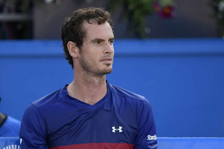 Murray (above)suffered an embarrassing first round loss against Australian world number 90 Jordan Thompson.