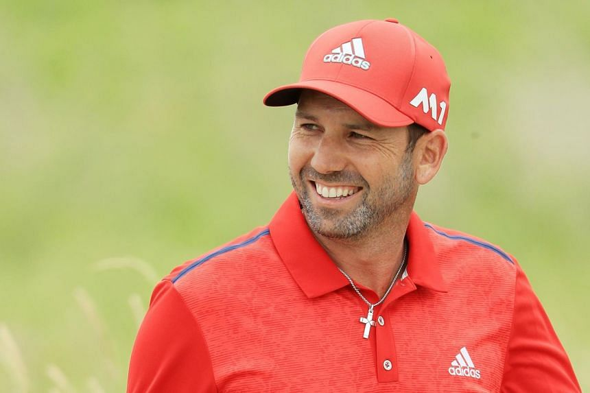 Sergio Garcia of Spain walking across the second hole during the final round of the 2017 US Open at Erin Hills on June 18, 2017 in Hartford, Wisconsin.