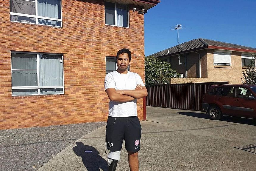 Mr Jeremy Iannuzzelli, in front of one of the 12 properties he owns across Australia, and Ms Kathleen Herbert in her rental home which she shares with three others. Mr Paniora Nukunuku, 23, (right) at his rental apartment subsidised by the government