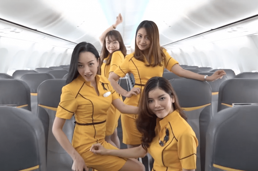 A cover of Britney Spears' song Toxic by Nok Air air stewardesses has gone viral.
