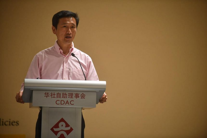 The new CDAC chairman, Education Minister Ong Ye Kung speaks during the 4th Partner Awards Presentation Ceremony at the Singapore Chinese Cultural Centre.