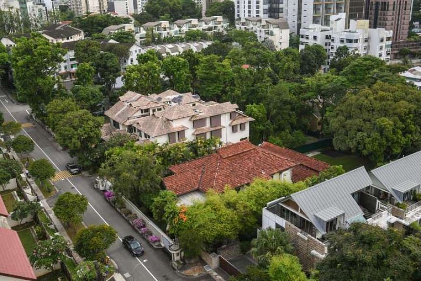 The top view of 38 Oxley Road, the home of the late former Prime Minister Lee Kuan Yew.