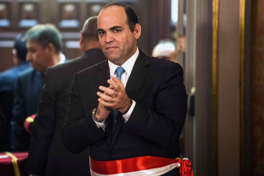 Peru's new finance minister Fernando Zavala during his swearing-in ceremony.