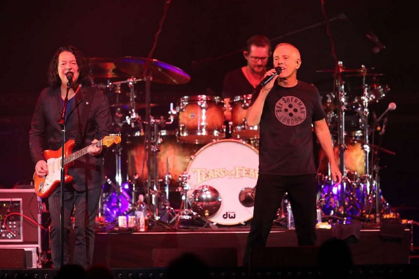 Roland Orzabal (far left) and Curt Smith from Tears For Fears headline a concert in Minnesota last month, along with Hall & Oates.