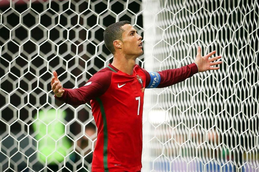 Ronaldo celebrates after scoring the 1-0 lead from the penalty spot.