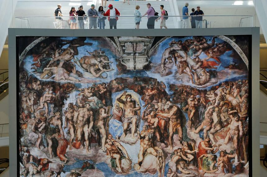 Michelangelo's Sistine Chapel exhibit opened at Oculus in New York City on Friday (June 23).
