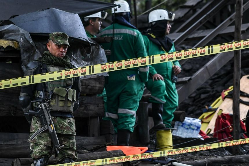 Ongoing search operations for missing miners a day after an explosion at the El Cerezo illegal coal mine killed at least eight people.