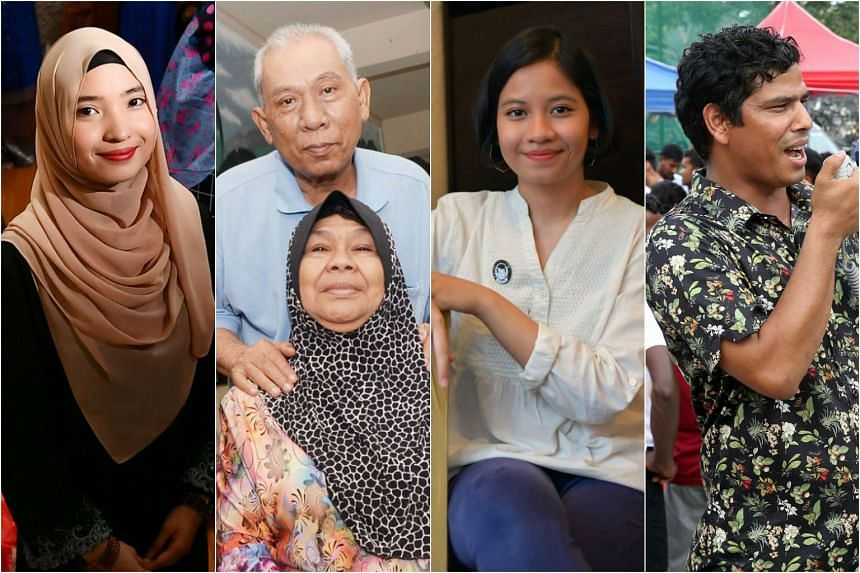 (From left) Ms Maisurah Mokhsin, Mr Ismail Sapuan and Madam Mariah Abdul Hami, Ms Nur Aida Sa'ad and Mr Mohammed Mukul Hossine tell The Sunday Times how they will be celebrating Hari Raya and what Aidilfitri means to them.