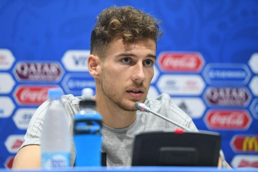 Germany's midfielder Leon Goretzka giving a press conference during the Russia 2017 Confederation Cup football tournament in Sochi on June 24, 2017.