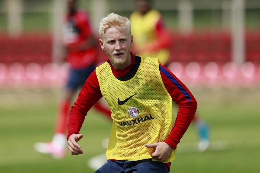 Will Hughes training with the England Under 21 football team on June 7, 2017.