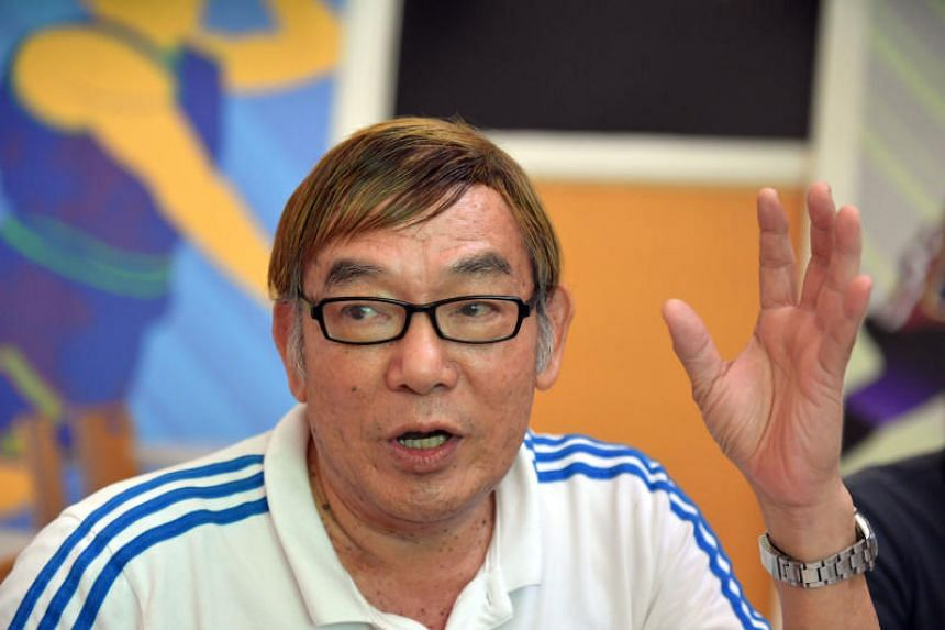Ho Mun Cheong, president of Singapore Athletics (SA) speaks during a press conference.