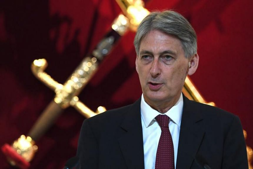Finance Minister Philip Hammond delivers delivers his speech to the Bankers and Merchants of the City of London, during a breakfast event at The Mansion House on June 20, 2017.