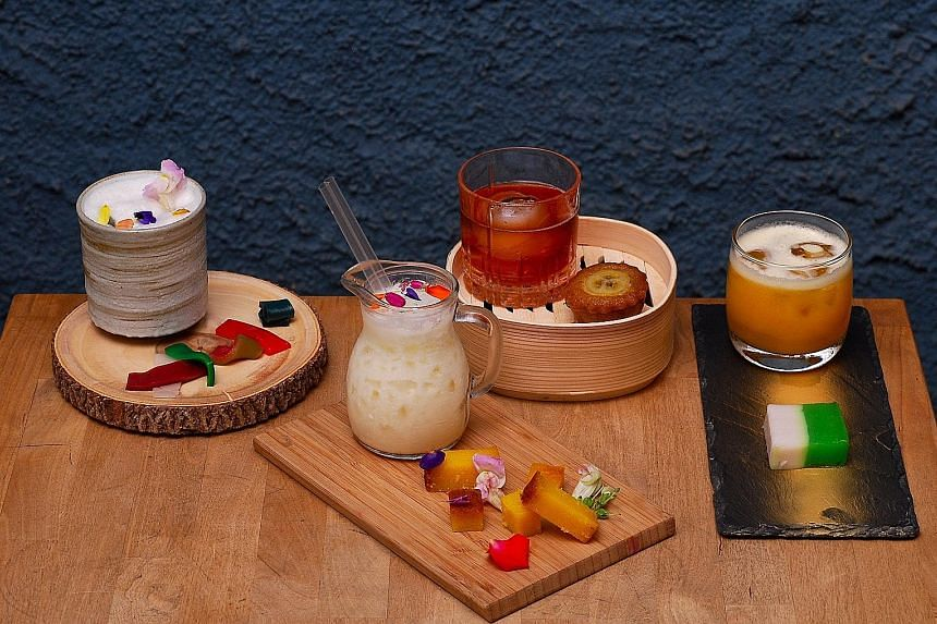 The festival's Kueh Pairing Workshop Series comprises sessions featuring cocktails (above), tea and coffee.