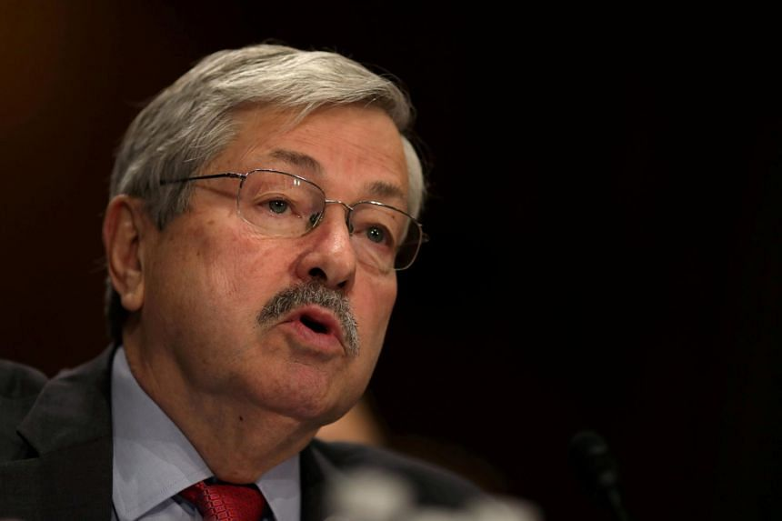Terry Branstad testifies before a Senate Foreign Relations Committee confirmation hearing on his nomination to be US ambassador to China on May 2, 2017.