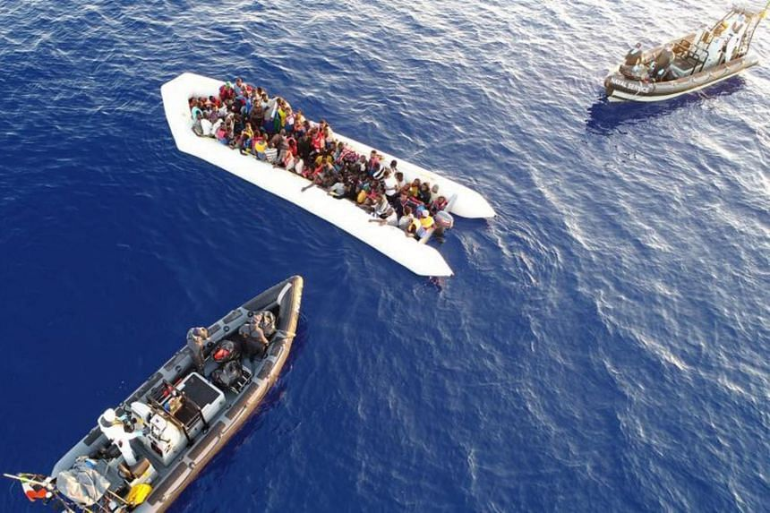The LÉ Eithne ship led the rescue of multiple vessels in distress north-west of Tripoli, rescuing 712 people including pregnant women and infants.