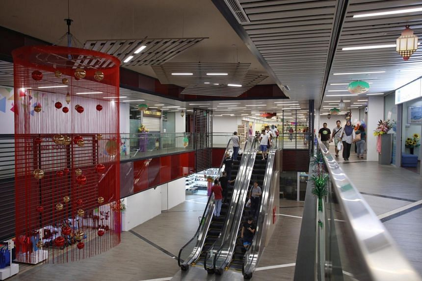 Improvements to the Loyang Point Shopping Complex include the installation of two new escalators and two new lifts.