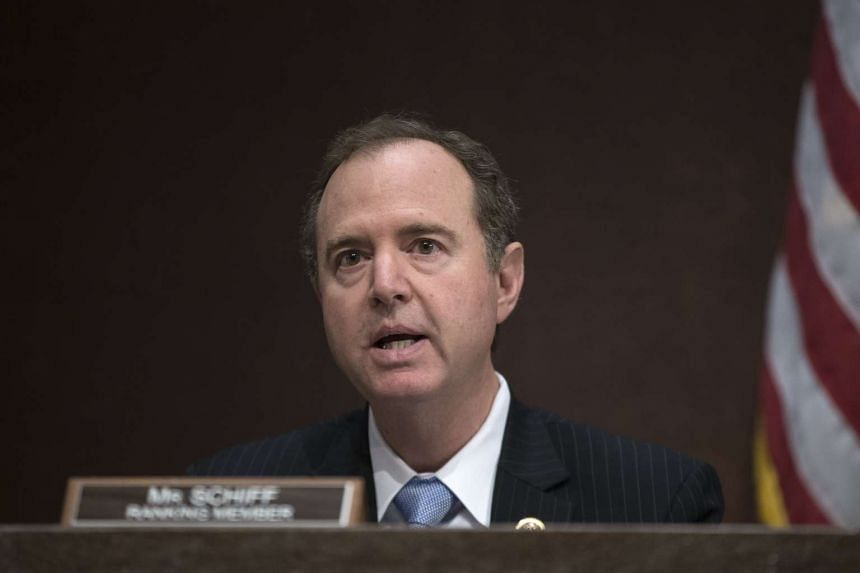 House member Adam Schiff makes a statement during a hearing on Russia's interference in the 2016 US election on June 21, 2017.