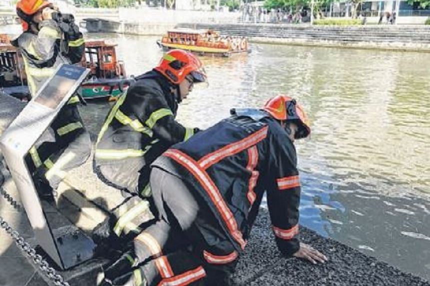 Nearly 30 SCDF and police officers were on the scene looking for the man.