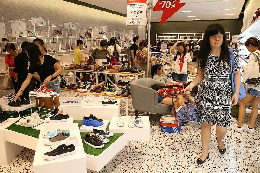 Sales at department stores rose 7.6 per cent year on year, compared with a 3.6 per cent dip in March.