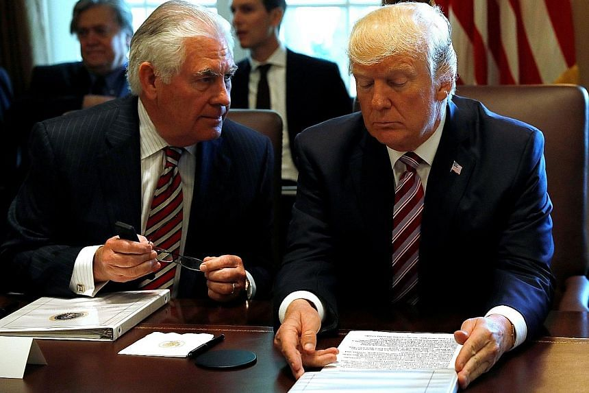 Mr Rex Tillerson's attempt to mediate in the dispute between Qatar and Saudi Arabia has put him in public disagreement with President Donald Trump. Others say it could be due to an internal power struggle.