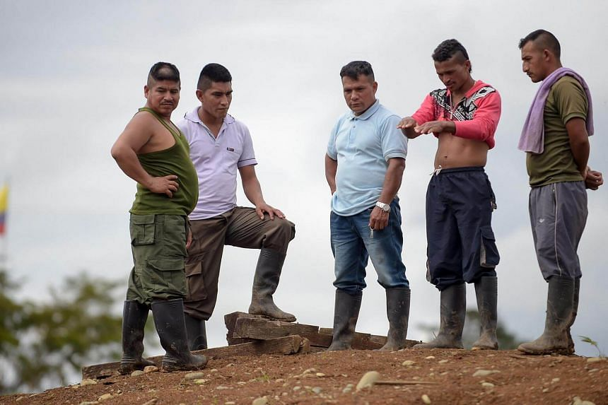 FARC rebels stay at the Transitional Standardisation Zone Mariana Paez, in Colombia.