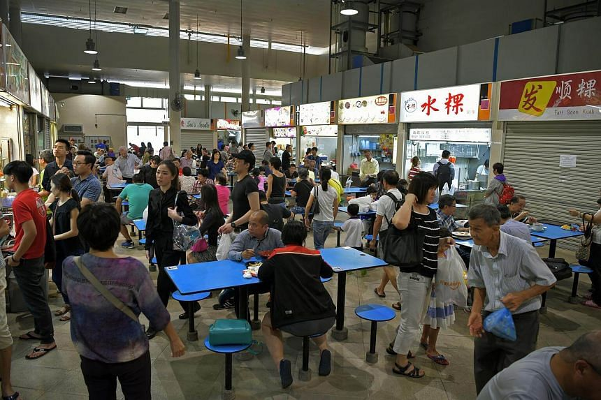 Patrons at the Bedok Interchange Hawker Centre.