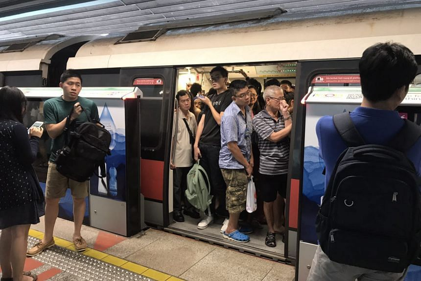 The situation at Clementi MRT station at 10am.