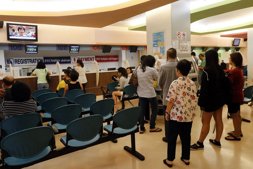 The waits are longer at the nine SingHealth polyclinics, with a median wait of 17 to 28 minutes, against five to 16 minutes at National Healthcare Group Polyclinics (NHGP).