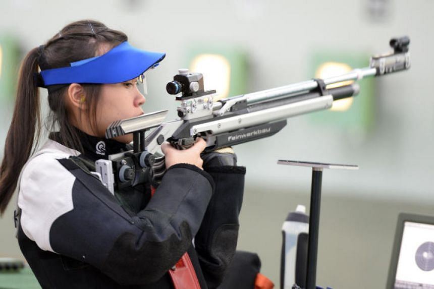 Ho Xiu Yi is part of a trio that clinched a silver medal in the women's 10m air rifle competition at the ISSF Junior World Championships in Suhl, Germany, on Monday (June 26).