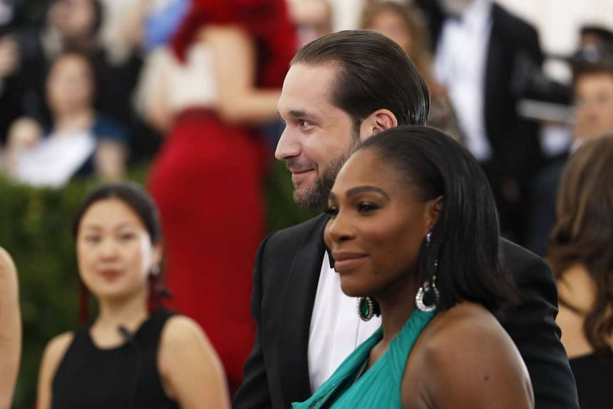 Serena Williams and Alexis Ohanian at the Met Gala in New York in May 2017.