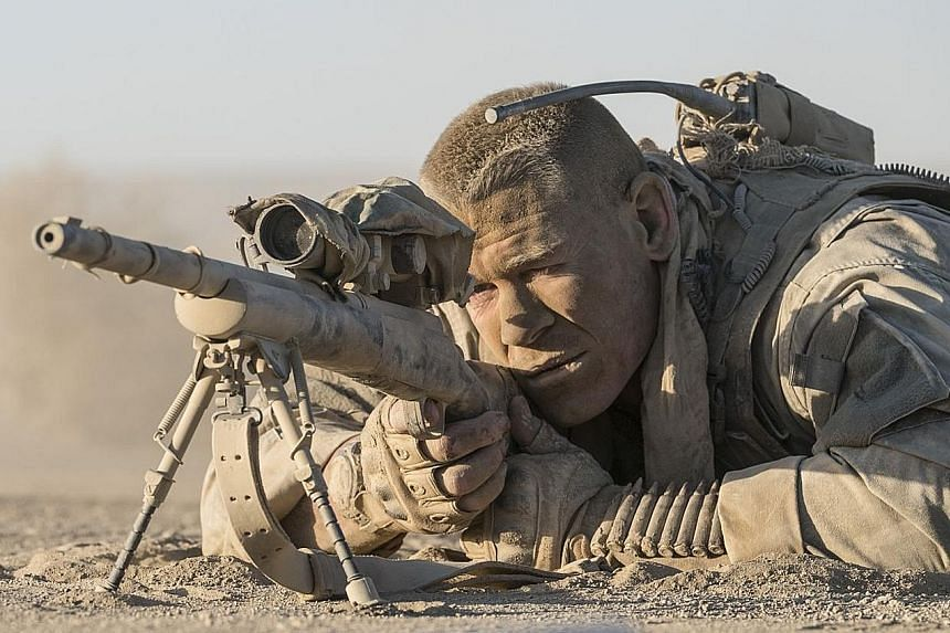 Wrestler-actor John Cena plays an American sniper in Iraq who is pinned down behind a crumbling wall by an unseen Iraqi sniper.