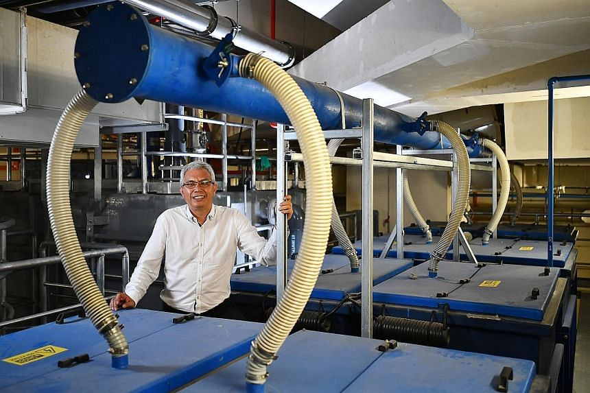 Trident Water Systems founder Theron Madhavan with the Electro Contaminant Removal system, a key technology the water-treatment company has developed in-house, which allows it to remain competitive.