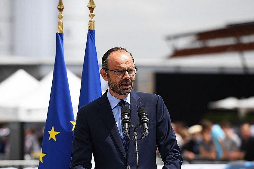 French Prime Minister Edouard Philippe (above) co-wrote In The Shadows with fellow right-wing political insider Gilles Boyer.