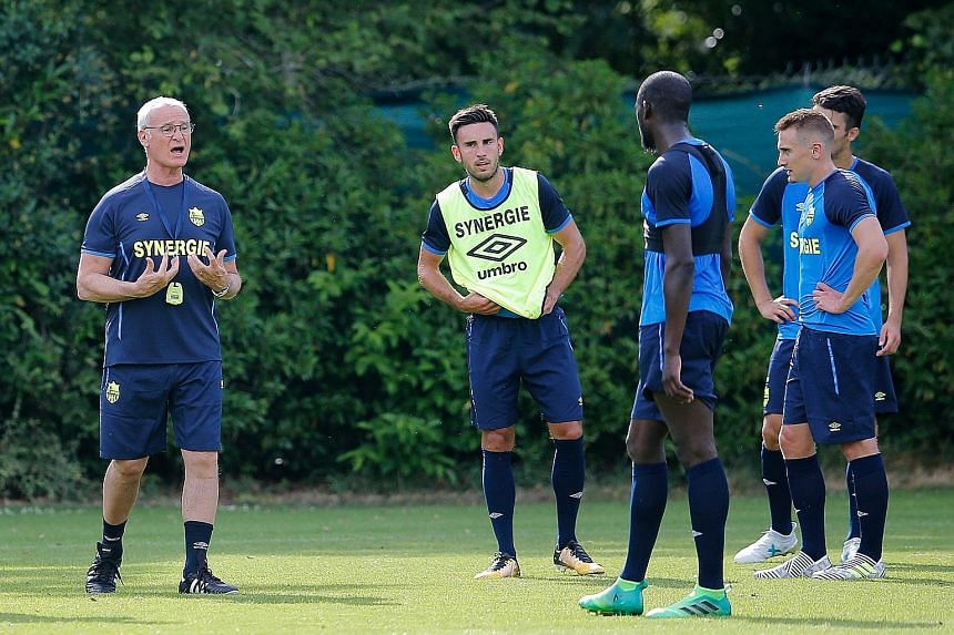 Nantes manager Claudio Ranieri taking charge of training with his new squad. The Italian has a task on his hands to revive the fortunes of the sleeping French giants, who have flattered to deceive in recent seasons.