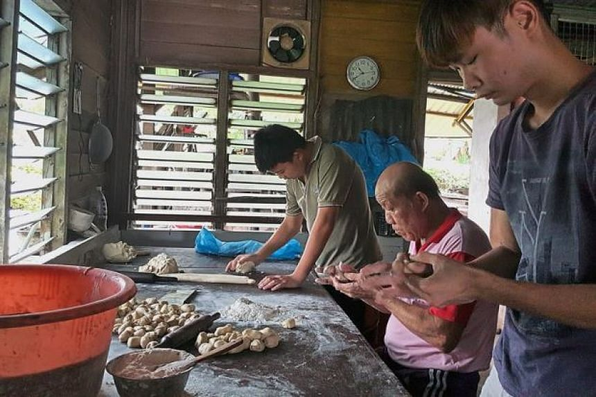 Chin Ping Chin Confectionery in Kampong Baru Ayer Hitam has been churning out heong peng for more than 30 years. PHOTO: THE STAR