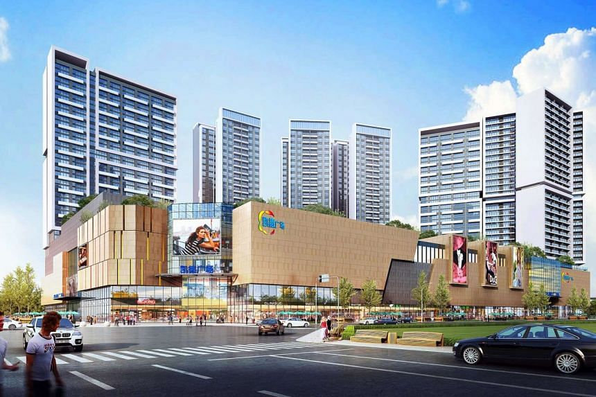 Artist's impression of the Leshijie integrated development in Chengdu, due to open in 2019. CapitaLand will oversee asset planning, pre-opening and retail management of the mall there.