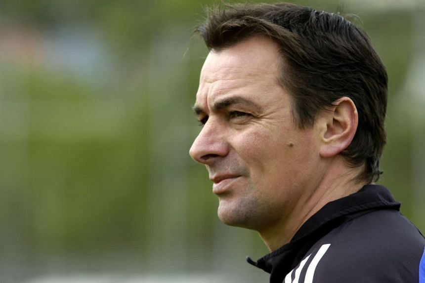 A 2004 photo shows French soccer trainer Stephane Paille, who has died.