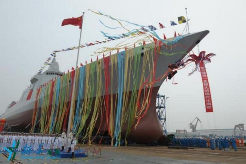 China on Wednesday launched a new home-grown destroyer in Shanghai, equipped with new air defense, anti-missile, anti-ship, anti-submarine weapons.