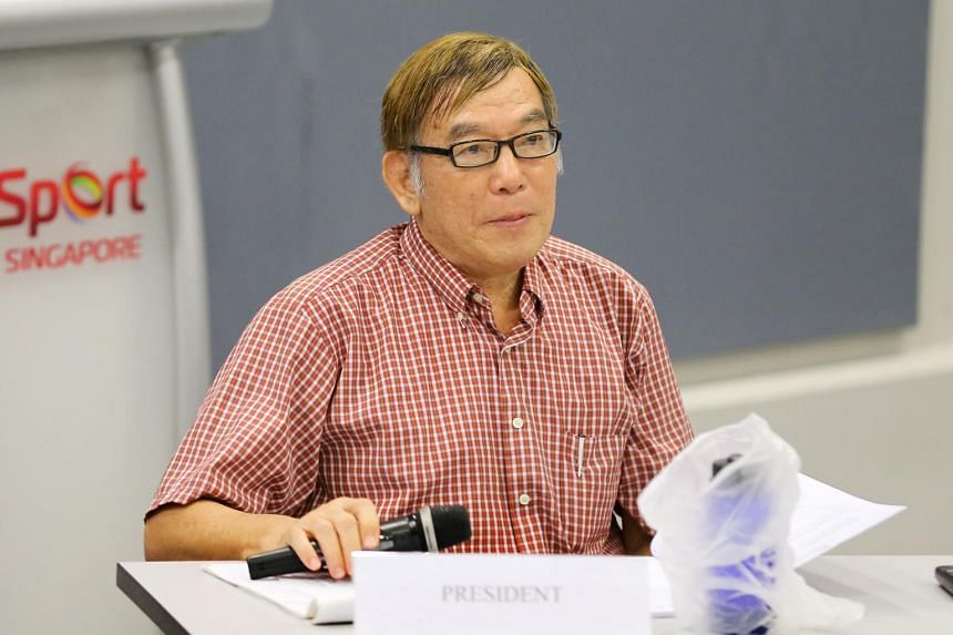 Mr Ho Mun Cheong at the Singapore Athletics annual general meeting, on June 27, 2017.