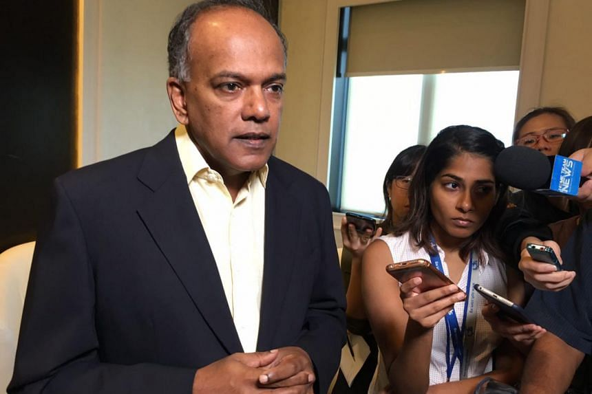 "Mr Shanmugam said some people have told him that young people working in foreign financial institutions are subject to a ""great deal of pressure"" to support the LGBT cause despite their personal beliefs."