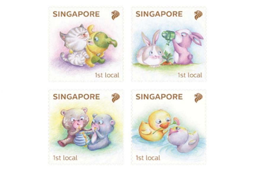 The Baby Animals stamp set hopes to encourage positive social values among children.