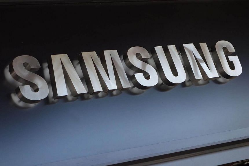 The Samsung sign logo in New York.